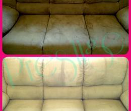 до и после химчистки мебели дивана